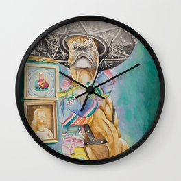 God is in the Palm Trees Wall Clock