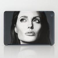angelina jolie iPad Cases featuring Angelina Jolie by Liliana Corradini