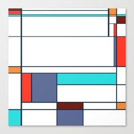 Mondrian print design Canvas Print