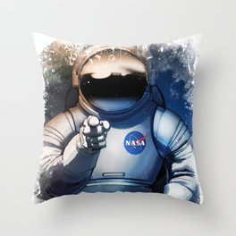 NASA Wants You Vintage Poster from 70s Moon Astronaut Grunge Artwork For Prints Posters Tshirts Bags Throw Pillow