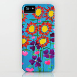 Flowers and Hearts iPhone Case