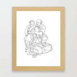 Doni Tondo or Doni Madonna, sometimes called The Holy Family - Michelangelo Framed Art Print