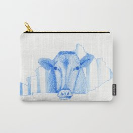 Blue Kentucky Cow Carry-All Pouch