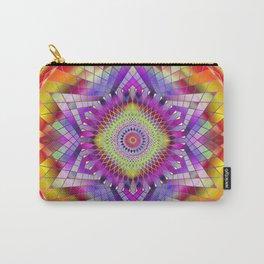 Mandala Sacred Geometry Snowflake Purple Carry-All Pouch