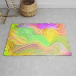 Summer Party Fun Time  Rug
