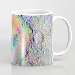 Iridescent Rainbow Moon Surface Coffee Mug