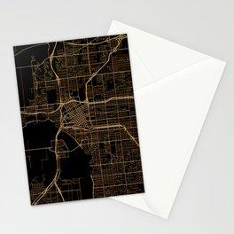 Tulsa map, Oklahoma Stationery Cards