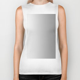White to Gray Vertical Linear Gradient Biker Tank