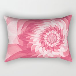 Pink fractal flower Rectangular Pillow