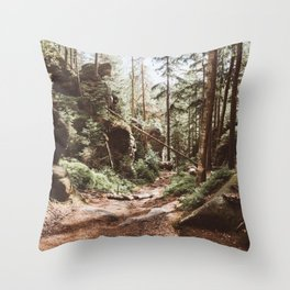Wild summer - Landscape and Nature Photography Throw Pillow
