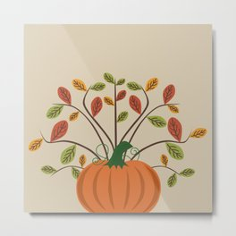 Fall Pumpkin Metal Print