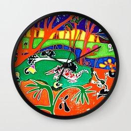 Autralian Heat        by Kay Lipton Wall Clock