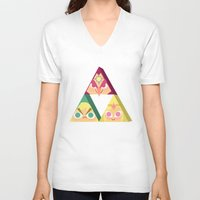 triforce V-neck T-shirts featuring triforce! by Spencer Duffy
