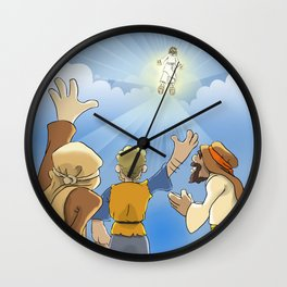 Jesus in the Clouds Wall Clock