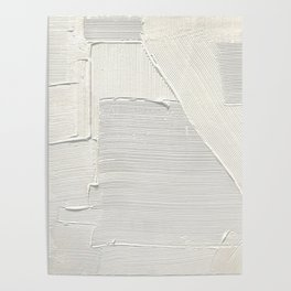 Relief [2]: an abstract, textured piece in white by Alyssa Hamilton Art Poster
