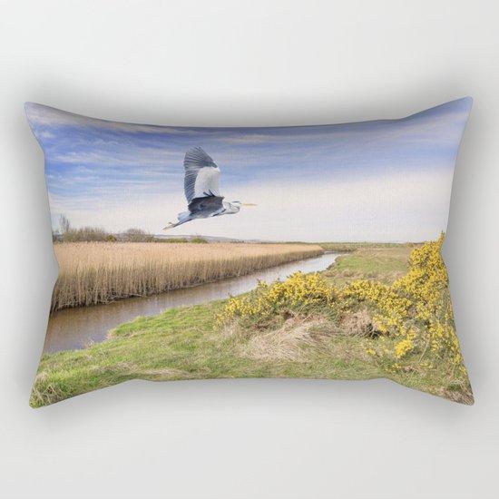 The hungry Heron Rectangular Pillow