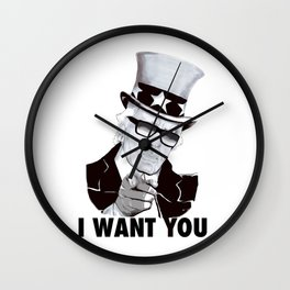 """Karl """"I want you!"""" Wall Clock"""