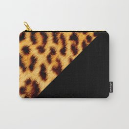 Leopard skin with black color II Carry-All Pouch
