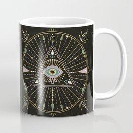 Evil Eye Mandala – Black Coffee Mug