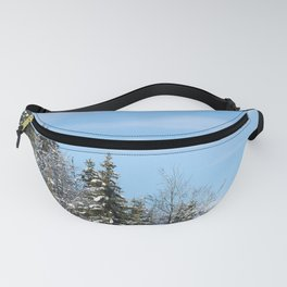 Trees in the snow Fanny Pack