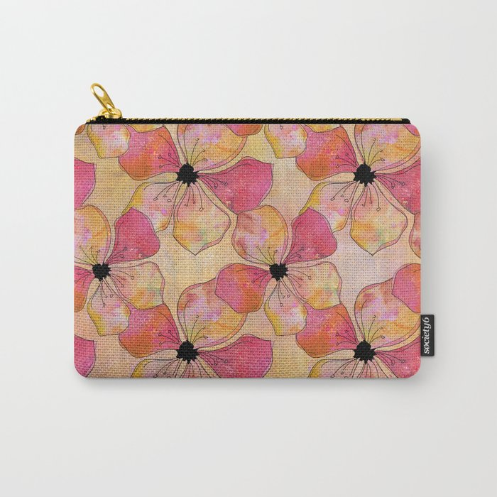 Floral watercolor pattern in pastel tones Carry-All Pouch