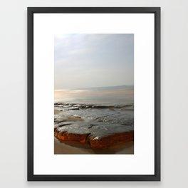 gods foot Framed Art Print
