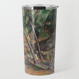 Millstone in the Park of the Château Noir Travel Mug
