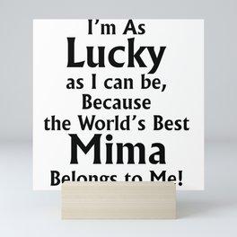 The World's Best Mima - Gift for Mima Mini Art Print