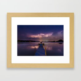 Lightning Skies Framed Art Print