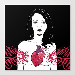 My heart is exploding Canvas Print