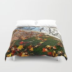 Wet December Morning in California Heights Duvet Cover