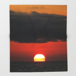 Malibu Sunset Throw Blanket