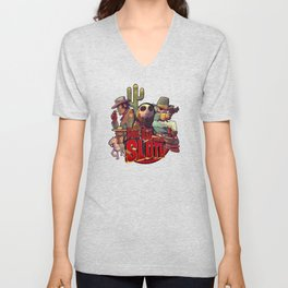The Good, The Bad and the Sloth Unisex V-Neck