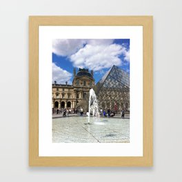 Louvre in Summer Framed Art Print