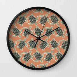 Sea Turtle . Terra Cotta Wall Clock