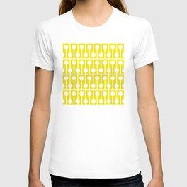 Geometric Pattern 178 (yellow pegs) T-shirt