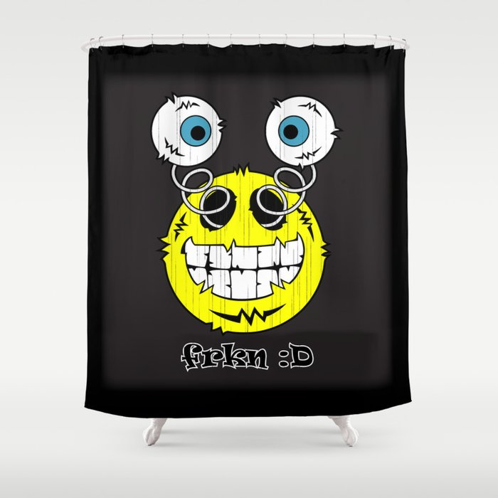 FREAKIN' Big Smile Emoticon! Shower Curtain