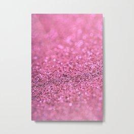 Beautiful Pink Glitter Sparkles Metal Print