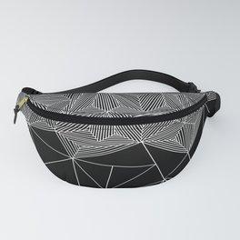 Digital Zentangle Incomplet Dark Fanny Pack
