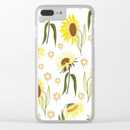 beautiful sunflower pattern Clear iPhone Case