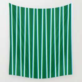 Between the Trees - Forest Green, Green & Blue #811 Wall Tapestry