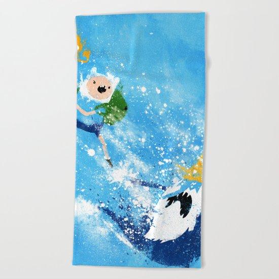 Battle Time!! Beach Towel