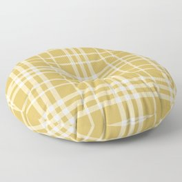Yellow Ocre Plaid Floor Pillow