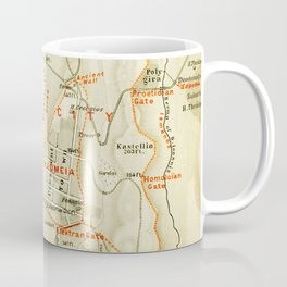 Vintage Map of Thebes Egypt (1894) Coffee Mug