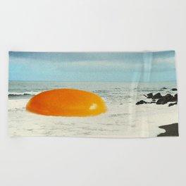 Beach Egg - Sunny side up Beach Towel