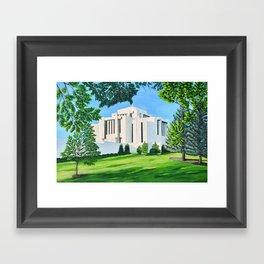 Cardston, Alberta Temple Framed Art Print