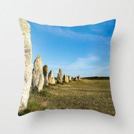 Menhirs de Lagatjar Throw Pillow