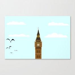 Big Ben Blue Skies Canvas Print
