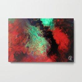 """Original Abstract Painting """"Titan"""" Mixed Media Close Up Photograph Metal Print"""