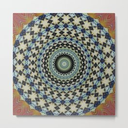 New Color Pyramidal Mandala 6 Metal Print